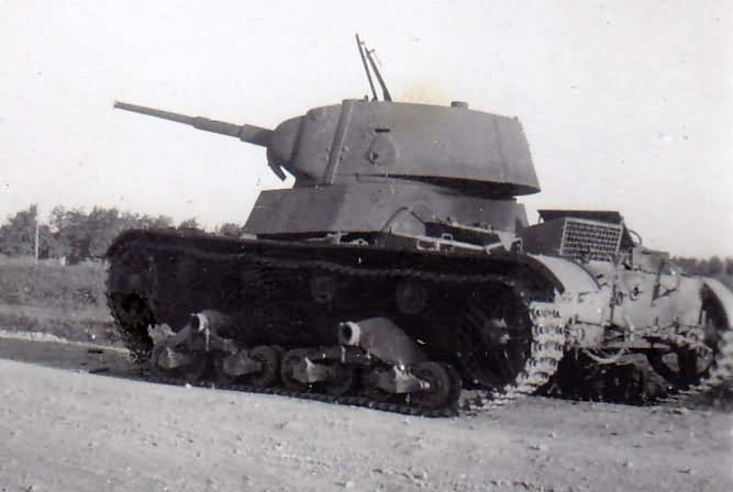 T-26 tank model 1939 Krasnodar August 1942