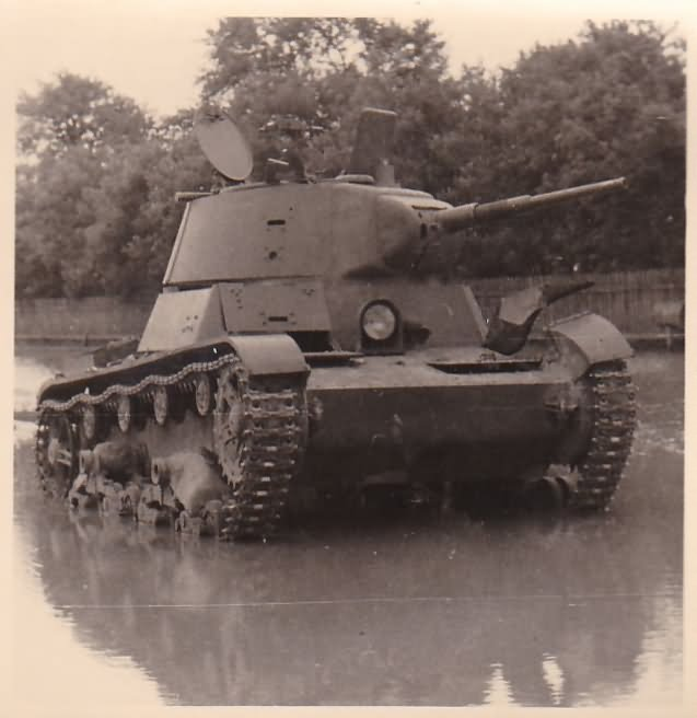 T-26 tank model 1939 abandoned by the Red Army in the summer