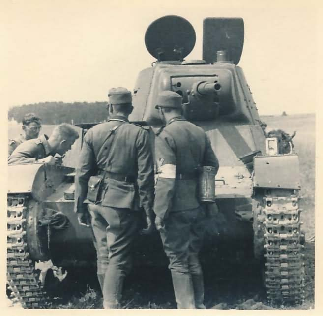T-26 tank model 1939 – abandoned during the Operation Barbarossa