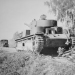 soviet tank T-28 abandoned during the Operation Barbarossa