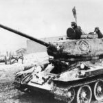 T-34-85 of the 64th Guards tank brigade in 1945