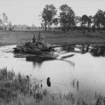 T-34-85 tanks fording