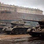 T-34-85 tank color photo Moskow