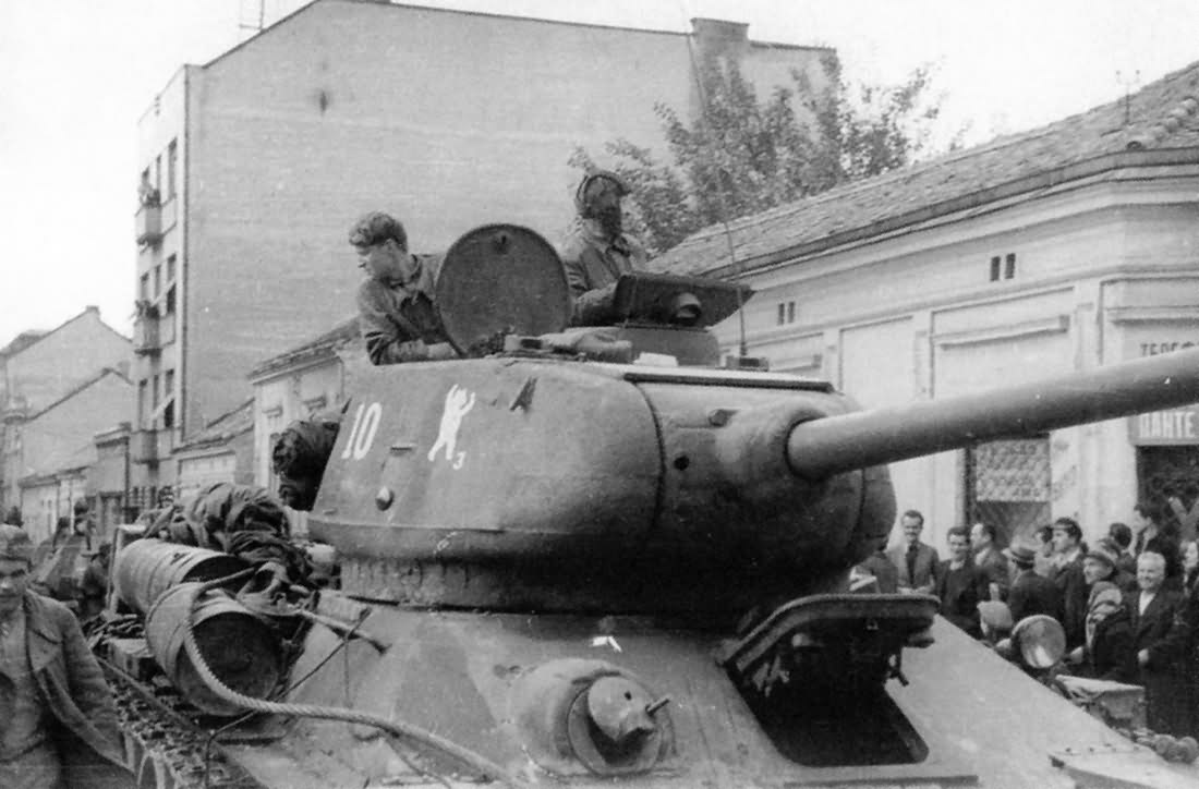 Tank T-34-85 #10 36th Guards tank brigade Yugoslavia October 1944