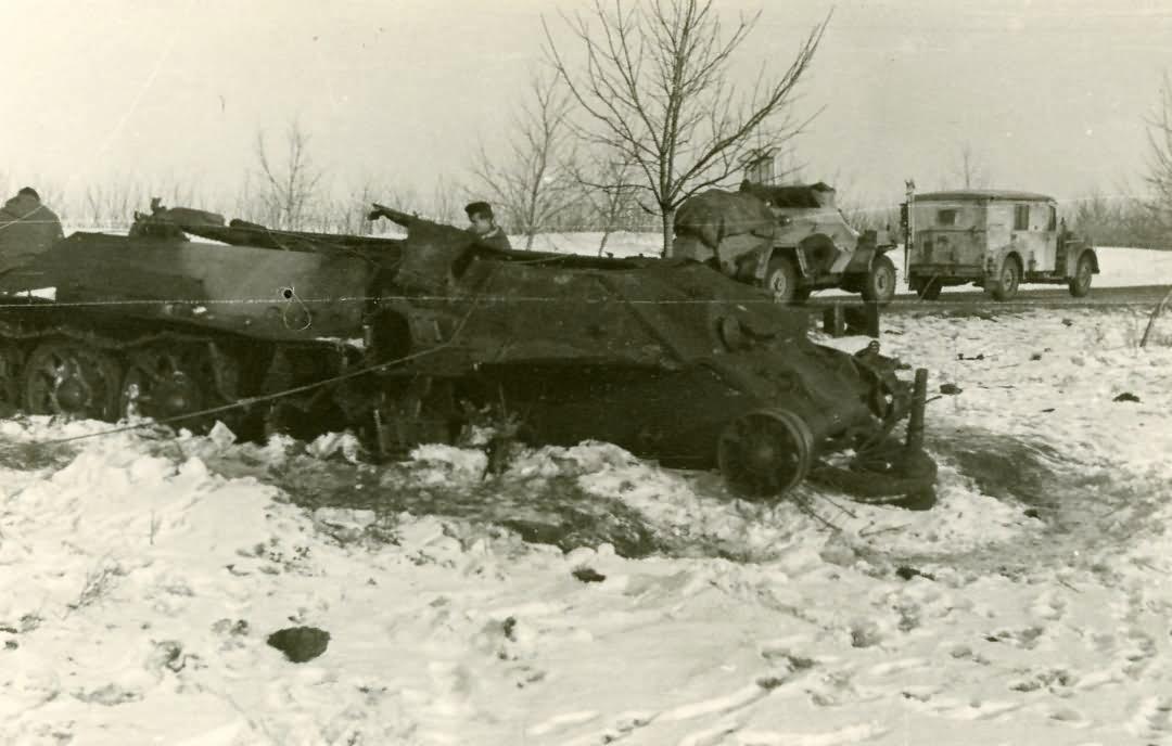 A wreck of a T-34 tank   World War Photos