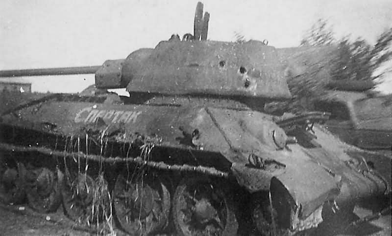 T-34/76 tank with Hexagonal Turret named Spartak