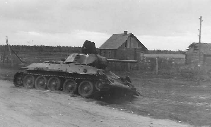 T-34 tank after capture by German forces 12