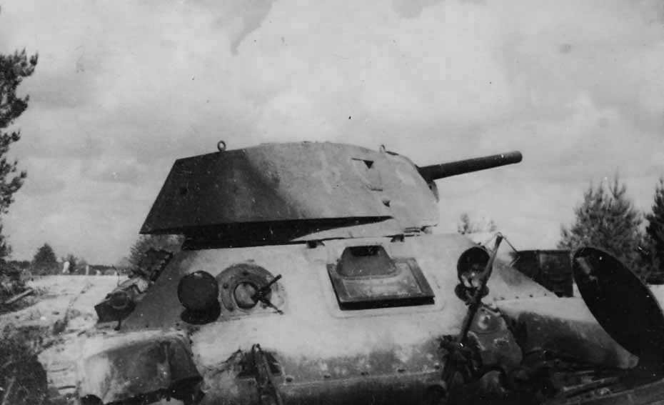 Burned out T-34 tank 15