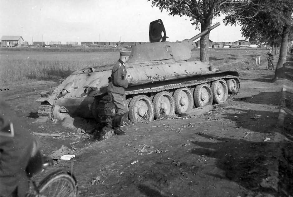 Captured T-34 tank 17