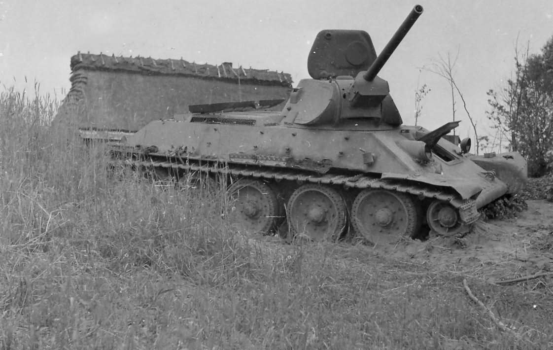 T-34 tank with welded turret 2