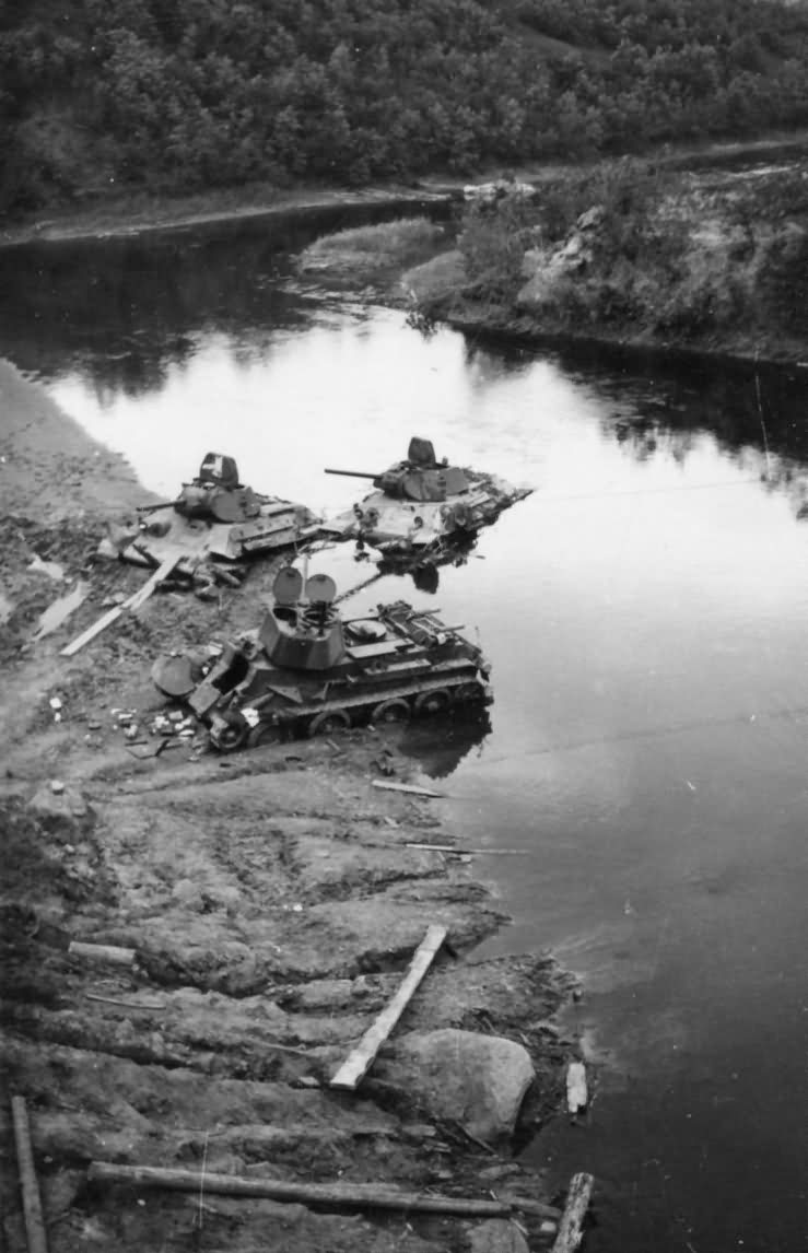 T-34 tanks and BT-7