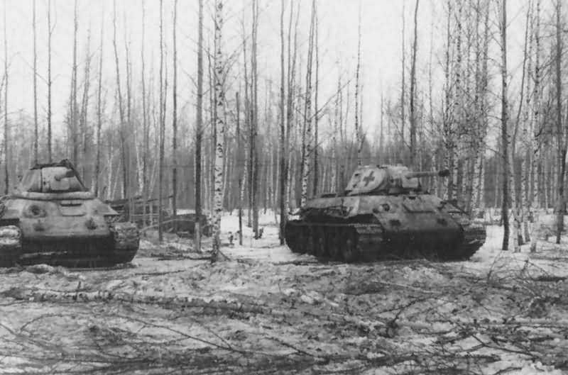 T-34 tanks in German Service Lujew February 1943