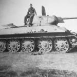 Captured T-34 tank model 1941