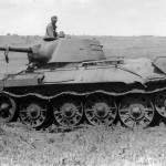 Soviet T-34 model 1942 tank manufactured at plant 183