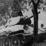 Soviet T-34 tank model 1940 armed with the 76 mm gun L-11 3