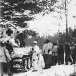 Soviet T-34 tank in German Service winter camo