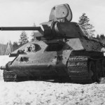 T-34 tank armed with the 76 mm gun F-34 – 1942