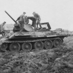 T-34/76 and wehrmacht troops