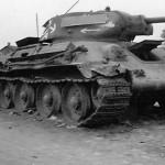 T-34 76 tank german road sign