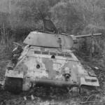 T-34/76 tank in mud