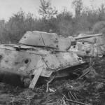 T-34/76 tanks in mud