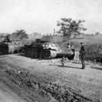 T-34 and KV-1 tanks after capture by German forces, Summer 1941