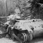 T-34 76 tank in winter