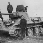 T-34 tank and Wehrmacht soldiers 22