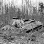 T-34 tank stuck in the swamp