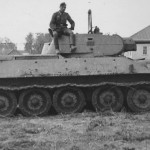 Early T-34 tank with welded turret