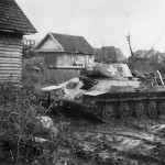 T-34 tank in German Service 1942 Staraja Russa