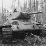 abandoned soviet tank T-34