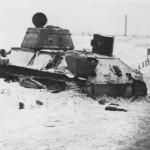 abandoned soviet tank T-34/76 winter