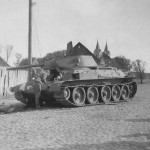 Medium tank T-34/76 abandoned by the Red Army