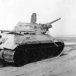 abandoned soviet tank T-34 76 coded 10 25