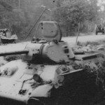 abandoned soviet tank T-34/76 mod 1941