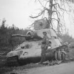 destroyed soviet T-34/76 mod 1940 tank