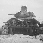destroyed soviet T-34/76 mod 1941 tank
