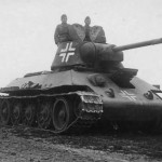 German T-34 armed with the 76 mm gun F-34 – beute panzer