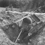knocked out soviet tank T-34