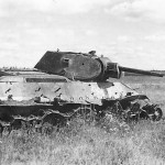 knocked out soviet tank T-34 2