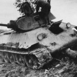 knocked out soviet tank T-34 mod 1940