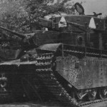 T-35 of the 68th Tank Regiment abandoned by its crew due to a malfunction