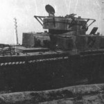 Soviet heavy tank T-35 fitted with radio antenna