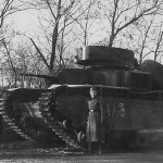 Blown up T-35 soviet heavy tank