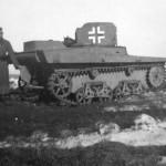 Schwimm Panzerkampfwagen T-37 731 (r) Beute panzer Balkenkreuz April 1942