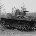 Soviet T-37 Amphibious Light Tank left side