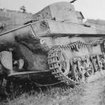 Soviet T-37 Amphibious Light Tank rear view