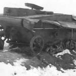 destroyed Soviet T-37 Amphibious Light Tank