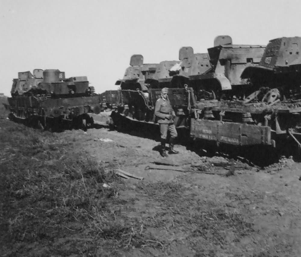 Soviet amphibious tanks T-38